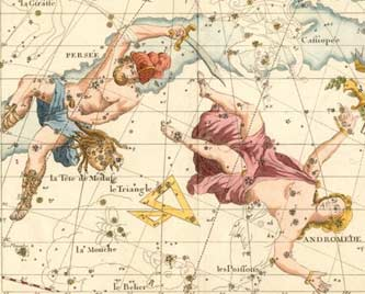Constellations Perseus and Andromeda