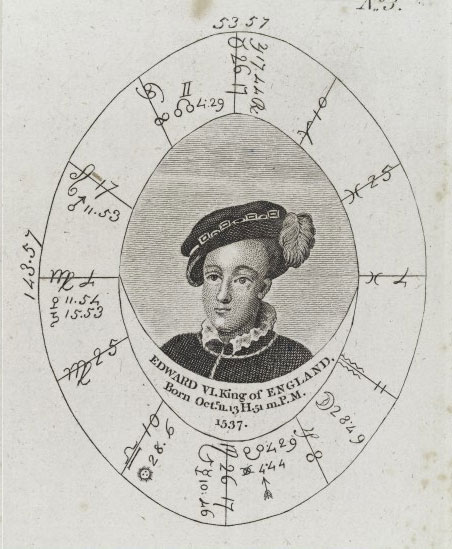Sibly's horoscope for King Edward VI