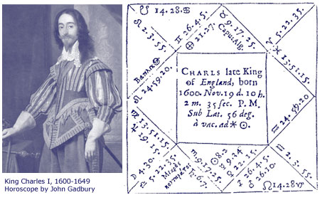 King Charles I, 1600-1609; horoscope by John Gadbury