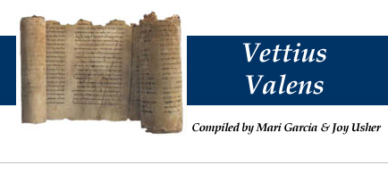 Vettius Valens - compiled by Mari Garcia and Joy Usher