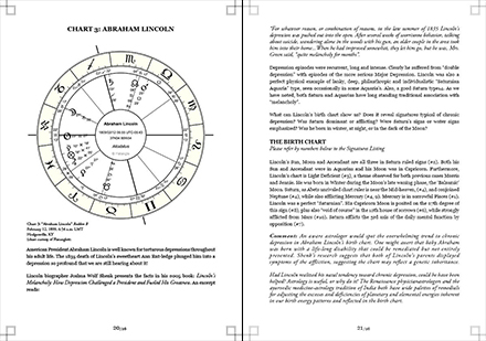Screenshot of article The astrology of depression by Judith Hill