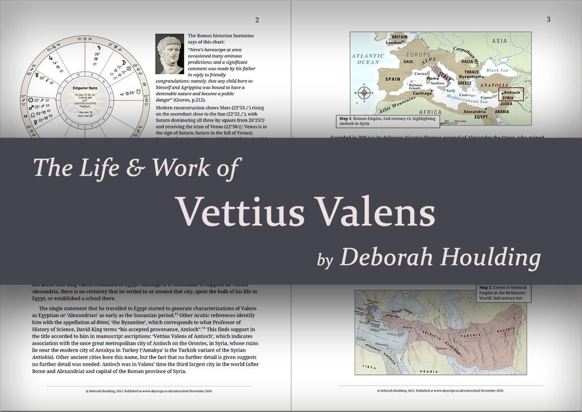 The Life and Work of vettius valens by Deborah Houlding