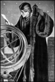 Copernicus studying the Moon