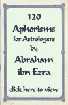 120 aphorisms for astrologers by Abraham Ibn Ezra. Click here to view