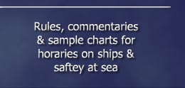 Rules, commentaries and sample charts concerning shipping and safety at sea
