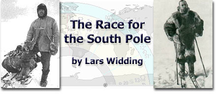 The Race for the South Pole by Lars Widding