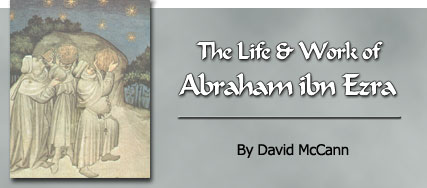 The life and work of Abraham ibn Ezra by David McCann